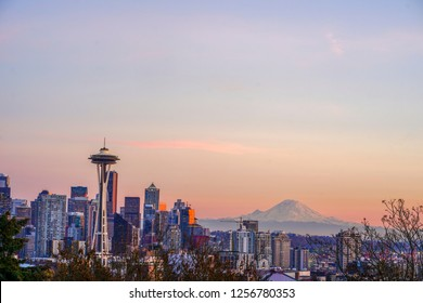 Seattle, GA - Novermber 20, 2018View of downtown Seattle skyline in Seattle Washington, USA - Image