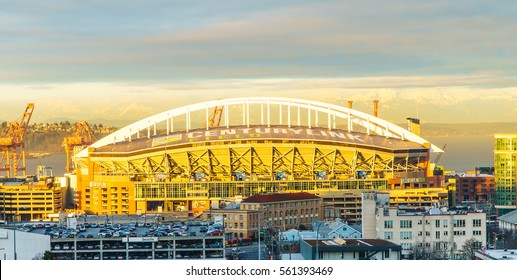 SEATTLE - Jan 6 2017 : Century Link Field is the home field for the Seattle Seahawks  the National Football League (NFL) and Seattle Sounders FC  Major League Soccer (MLS) : Jan 6 2017 : Seattle WA