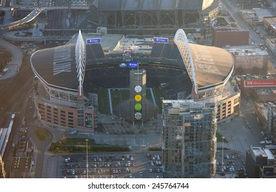 SEATTLE - January 13th: CenturyLink Field, Seattle on January 13th, 2015. It was originally called Seahawks Stadium but was renamed Qwest Field on June 23, 2004