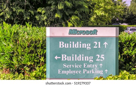 SEATTLE - JULY 23, 2006: Microsoft corporate headquarters in Seattle. Microsoft is a multinational corporation that develops, supports and sells computer software and services.