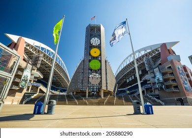 SEATTLE - JULY 5: CenturyLink Field, Seattle in July 5, 2012. It was originally called Seahawks Stadium but was renamed Qwest Field on June 23, 2004