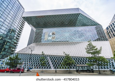 Seattle library,Seattle,Washington,usa.   07/05/16.  for editorial