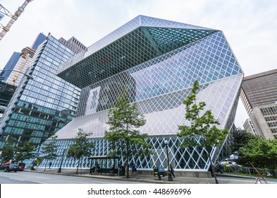 Seattle library,Seattle,Washington,usa.   07/05/16.  for editorial use only.