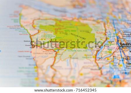 Seattle Map Stock Photo Edit Now 716452345 Shutterstock