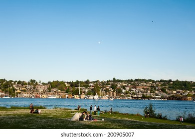 SEATTLE - MAY 11: Gas Works Park overlooks Lake Union and a large portion of Seattle, including the Eastlake neighborhood on May 11, 2014.
