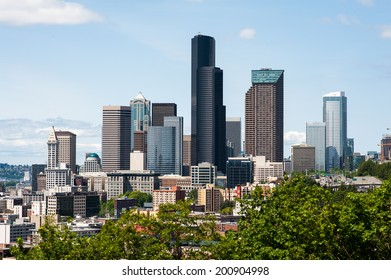 SEATTLE - MAY 11: A view of the Seattle skyline as seen from the south on May 11, 2014.