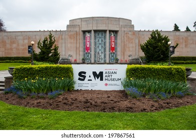SEATTLE - MAY 9: The Asian Art Museum is located in the heart of the Volunteer Park as seen on May 9, 2014 in Seattle.