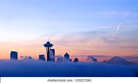 seattle morning sky