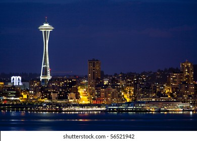 Seattle Puget Sound at Night