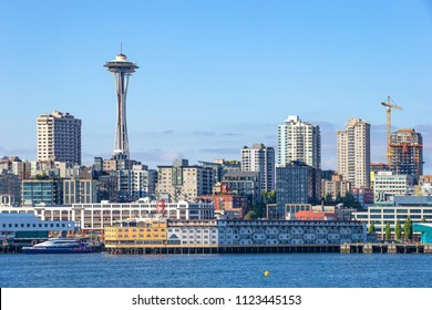 Seattle skyline from Bainbridge island ferry