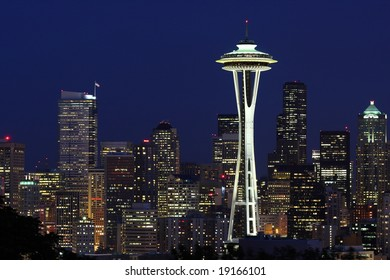 Seattle Skyline at Dawn from Kerry Park
