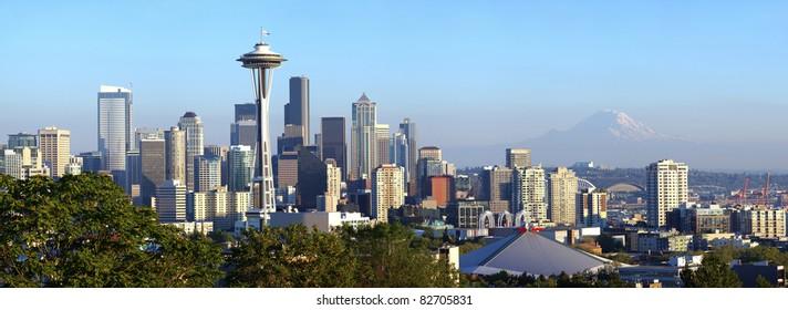 Seattle skyline panorama, WA.state.