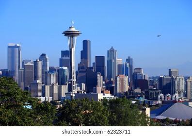 Seattle skyline portraits, WA. state.