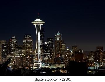 Seattle skyline from Queene Anne Hill.