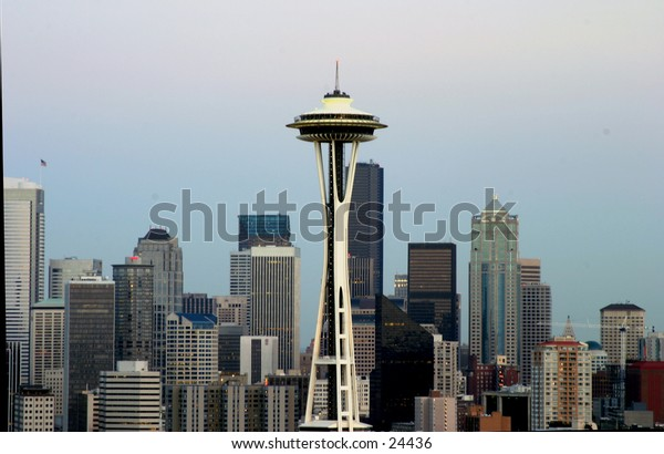 seattle skyline with various buildings