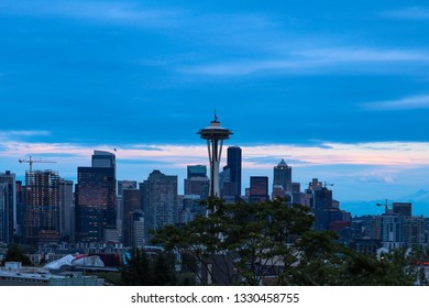 Seattle, USA, August 31, 2018: Space Needle Seattle.