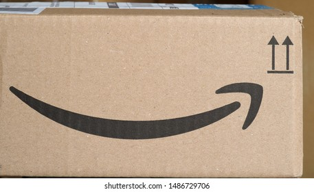 SEATTLE, USA - CIRCA AUGUST 2019: Amazon packet