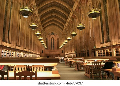SEATTLE, USA - NOVEMBER 28, 2007: Interior of Suzzallo Library at the University of Washington in Seattle as seen inside the Graduate Reading Room on November 28, 2007