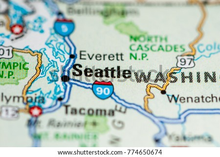 Seattle Usa On Map Stock Photo Edit Now 774650674 Shutterstock