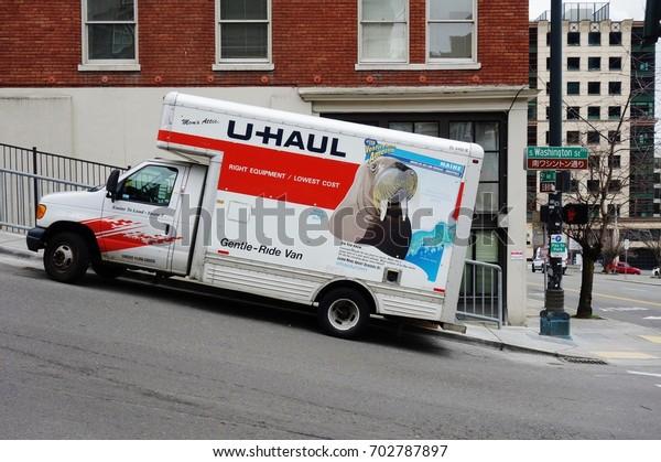 U Haul Moving Truck >> Seattle Wa 25 Feb 2017 Uhaul Stock Image Download Now