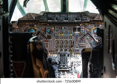 Seattle, WA Aug 25, 2017 - The cockpit of a Concorde at the Boeing Museum of Flight