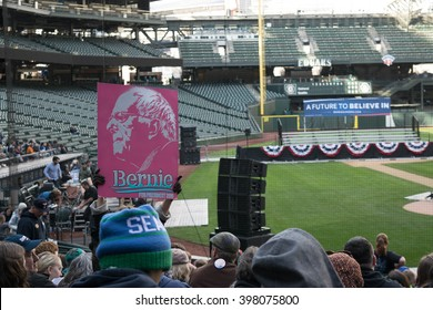 SEATTLE, WA -: March 25, 2016:Supporters gather at Safeco Field to show their support for presidential candidate, Bernie Sanders.