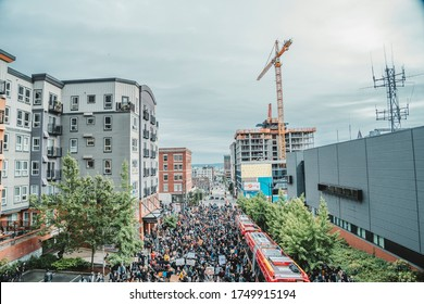 Seattle, WA / United States - June 2nd 2020: George Floyd Protests in Seattle