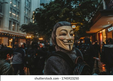 Seattle, WA / United States - May 30th, 2020: Protests in Seattle