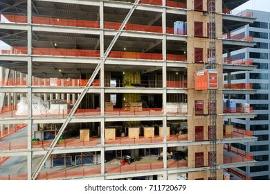 Seattle, WA, USA December 21, 2016: The Mark, a 43 story hotel/office building, rises up among other high rise buildings in downtown Seattle