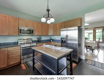 Seattle, WA / USA - June 15, 2019: Modern kitchen interior
