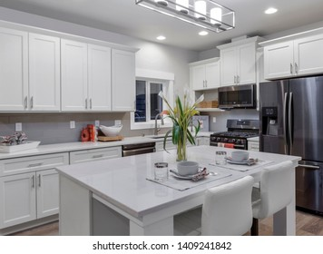 Seattle, WA / USA - May 23, 2019: Modern kitchen interior