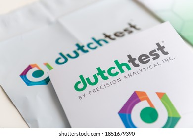 Seattle, WA / USA - November 9, 2020: Dutch Complete Test for at Home Use. Comprehensive Assessment of Sex and Adrenal Hormones and Their Metabolites.