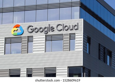 Seattle, WA, USA - Oct 11, 2019: The Google Cloud Platform logo seen at Google Cloud Seattle campus, right across the street from Amazon's Headquarters.