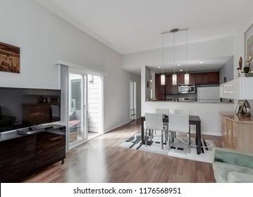 Seattle, WA / USA - Sept. 3, 2018: Modern living room interior