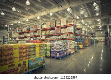 SEATTLE, WA, US-JUL 28, 2015:Supplements and multivitamin at Costco Wholesale big-boxes store. It is the largest membership-only warehouse club in USA with total of 705 warehouses worldwide