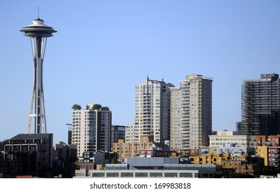 SEATTLE, WASH., USA - CIRCA JULY 2010 - The skyline of Seattle, Wash., looks best when viewed from Puget Sound.