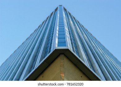 Seattle, Washington - August 20, 2005: The distinctive tapered pedestal of the Rainier Tower in downtown Seattle. The iconic 31-story skyscraper built in 1977, is considered a landmark of the city.
