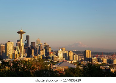 Seattle, Washington - July 25, 2018: View of Seattle, Washington skyline from Kerry Park. Seattle has been the fastest growing major city in the United States in 2013 and 2016.