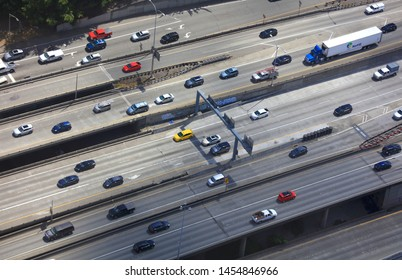 SEATTLE, WASHINGTON - JUN 28:, Seattle is one of the top 10 most traffic cities in USA in 2019,  on June 28, 2019.