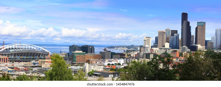 SEATTLE, WASHINGTON - JUN 28:, Seattle ranked 15th largest city in USA  and one of the top 5 fastest growing cities in USA,  on June 28, 2019.