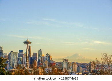 Seattle, Washington - November 20, 2018: View of downtown Seattle skyline in Seattle Washington, USA
