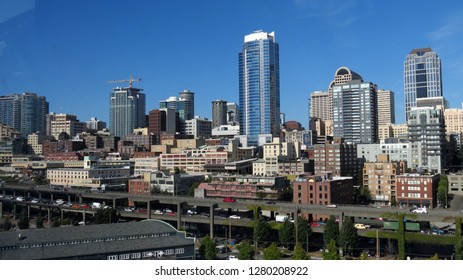 Seattle Washington Skyline on a beautiful sunny day