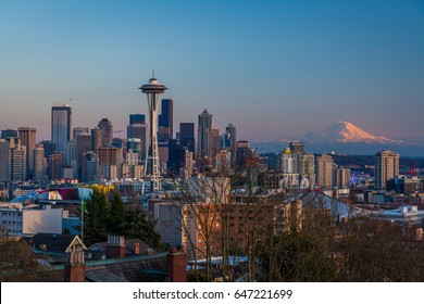 SEATTLE, WASHINGTON, UNITED STATES - MARCH 23, 2014: Seattle, view from Kerry Park