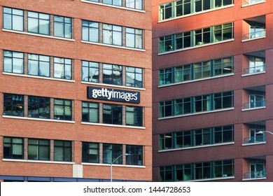 Seattle, Washington, USA - 01, June, 2019: The headquarters Office building of Getty Images in Seattle, Washington, United States. Getty Images, Inc. is a visual media company.