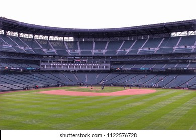 Seattle, Washington, USA - April 20,2018 : Safeco Field - Baseball stadium of Seattle Mariners, Seattle, Washington, USA.