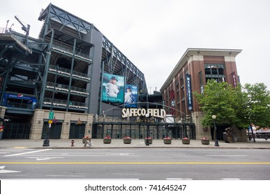 Seattle, Washington, USA - July 2,2017 : Safeco Field - Baseball stadium of Seattle Mariners, Seattle, Washington, USA