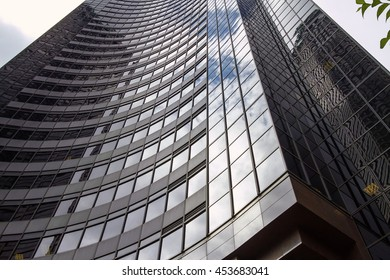 SEATTLE, WASHINGTON, USA - JULY 29, 2011: Reflection of the Sky on Columbia Center in Seattle, Washington, United States. The Office Tower Contains 76 Stories Above Ground and Seven Below.