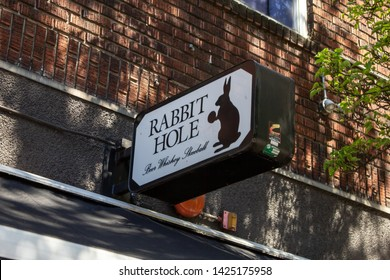Seattle, Washington/United States - 04/29/2019: A local craft bar known as Rabbit Hole in downtown Seattle