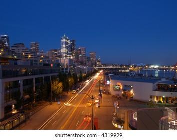 Seattle Waterfront Skyline