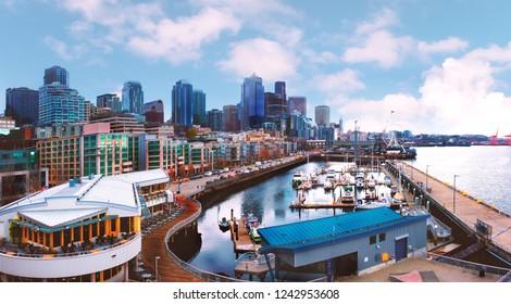 Seattle Waterfront. Seattle, WA USA
